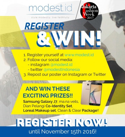 Register at modest.id and Win These Prizes!