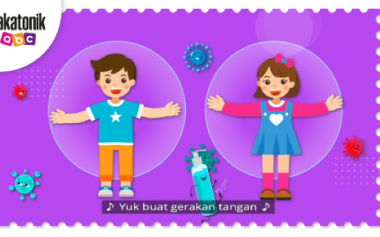 Gerakan Tangan ABC Ajak Anak Biasakan Pakai Masker, Jaga Jarak dan Cuci Tangan