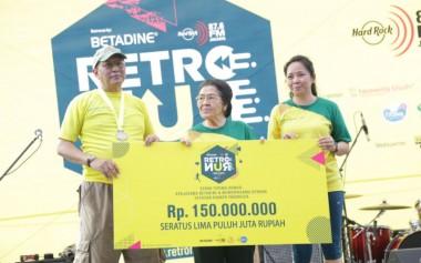 Lari Mundur Bertema Retro bersama Yayasan Kanker Indonesia