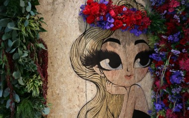 Cantiknya Instalasi Bunga Segar & Ilustrasi Fashionable pada Perayaan Ulang Tahun Central