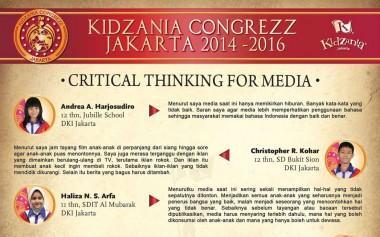Critical Thinking for Media, Kritik dan Rekomendasi Anak terhadap Media
