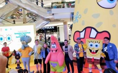 Spongebob bersama Konten Kreator Lokal Rayakan Libur Akhir Tahun di Kota Kasablanka